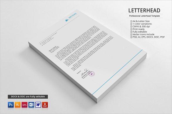 PSD Letterhead Template u2013 51+ Free PSD Format Download! Free - corporate letterhead template