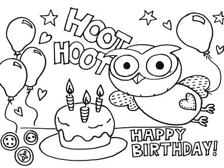 Birthday Coloring Cards Happy Mom Printable Sis Page