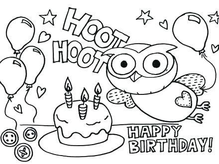 Birthday Coloring Cards Happy Birthday Mom Printable Cards Happy
