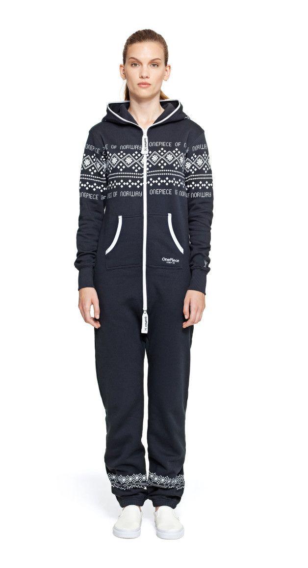 2070454745b8 Onepiece Lusekofte Onesie Navy Cozy Winter Outfits