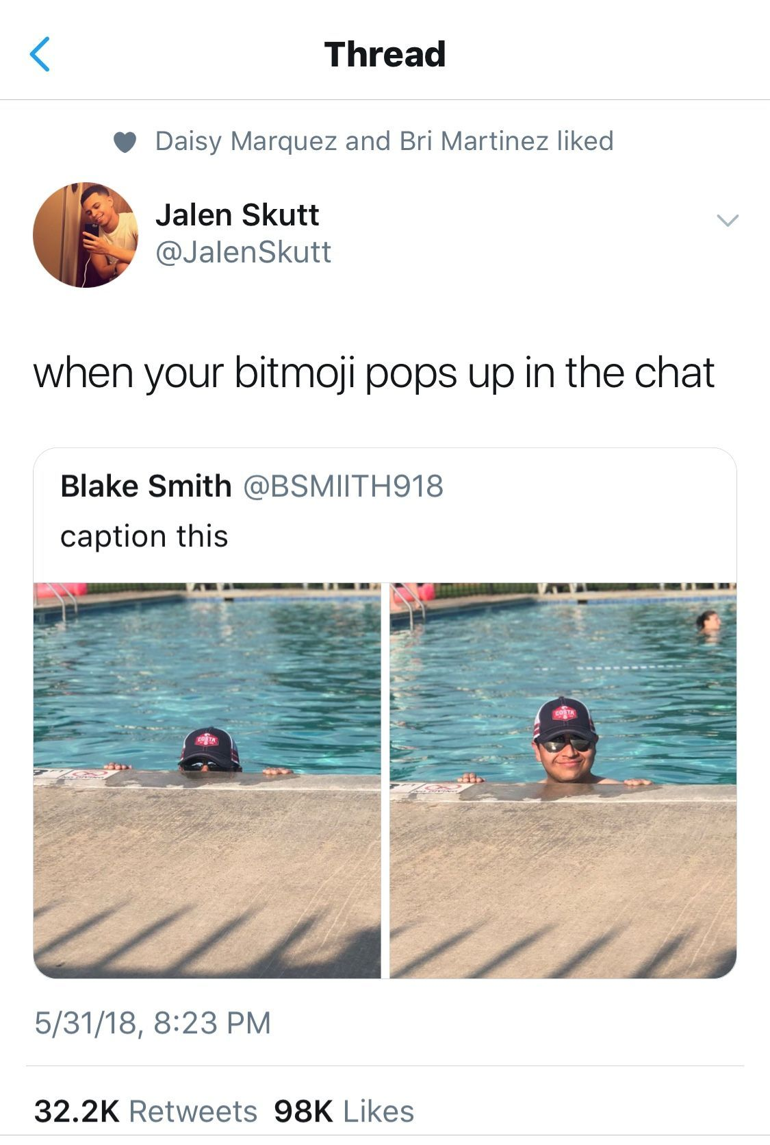 Not Funny Or Anything But I Have A Kid My School Named Blake Smith Funny Group Chat Names Funny Relatable Memes Stupid Funny