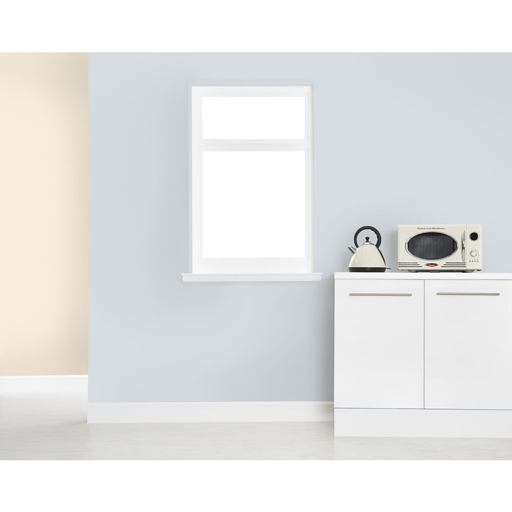 White Kitchen Emulsion dulux kitchen+ matt emulsion paint frosted steel 2.5l £19 at wilco