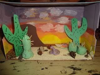 Dioramas | desert ecosystem | Maquetas de ecosistemas, Caja