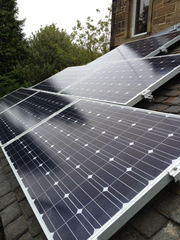 Solar panel installation job by The Roof Maintenance