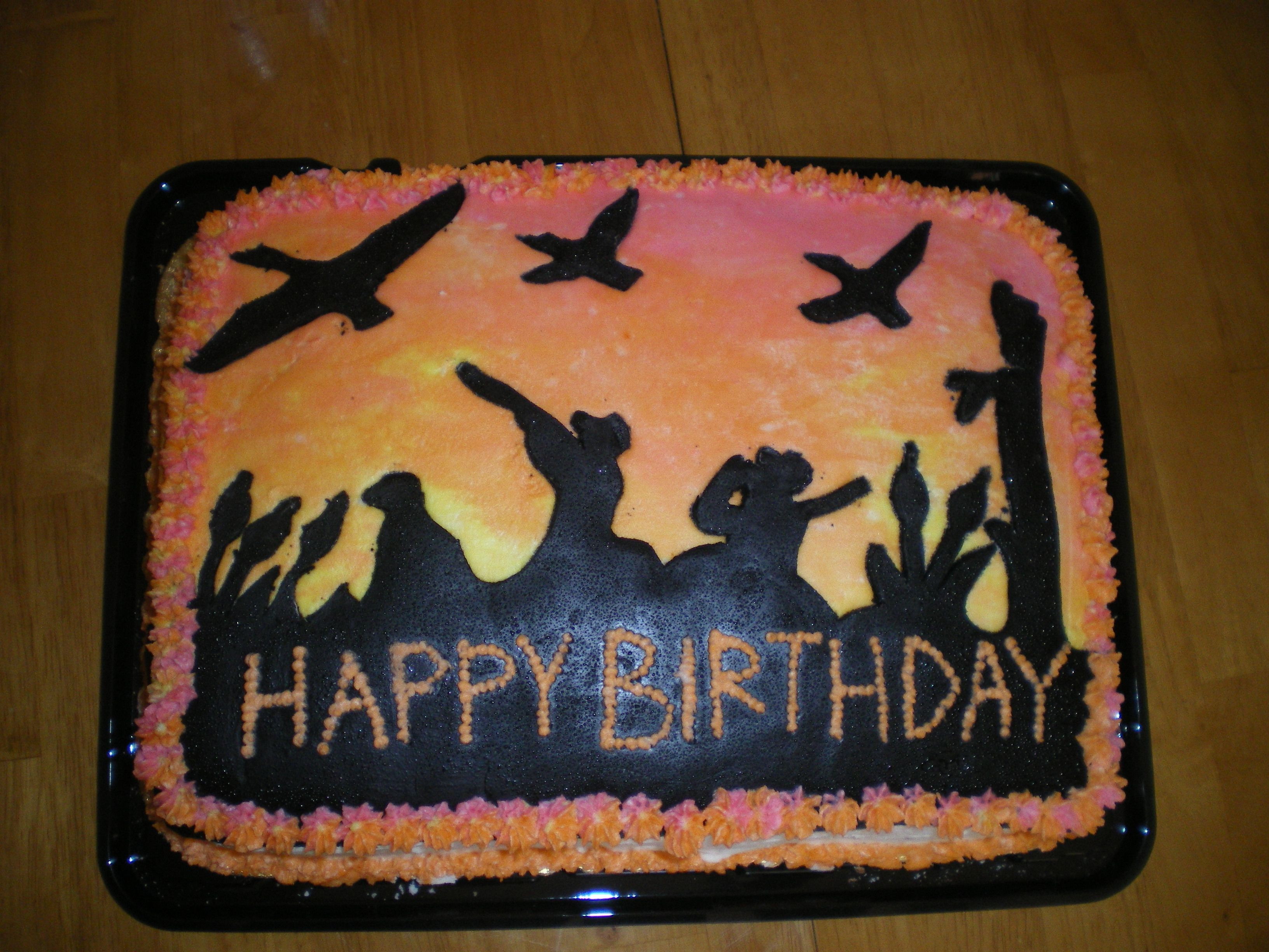 Duck hunting birthday cake for my husband Cakes Pinterest