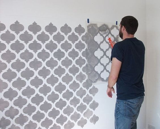 24 Wandfarbe Muster Schablone