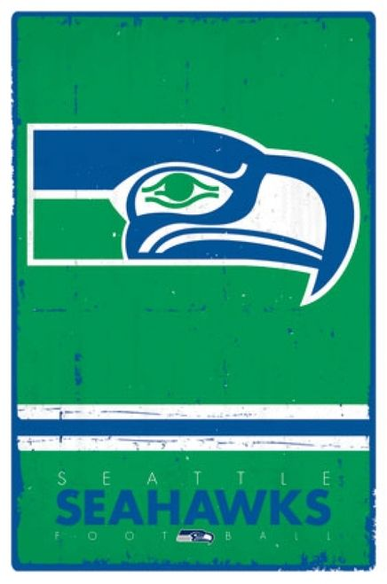 Personalized Customized Seattle Seahawks Name Poster Sport Banner with Frame