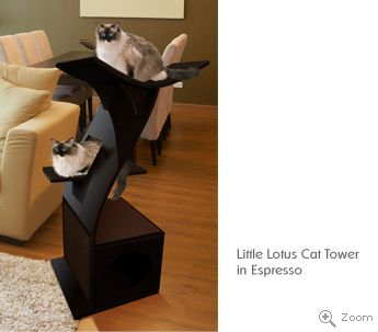 Modern Cat Tree Stylish Cat Towers Condos The Refined Feline Modern Cat Tree Modern Cat Cat Bed