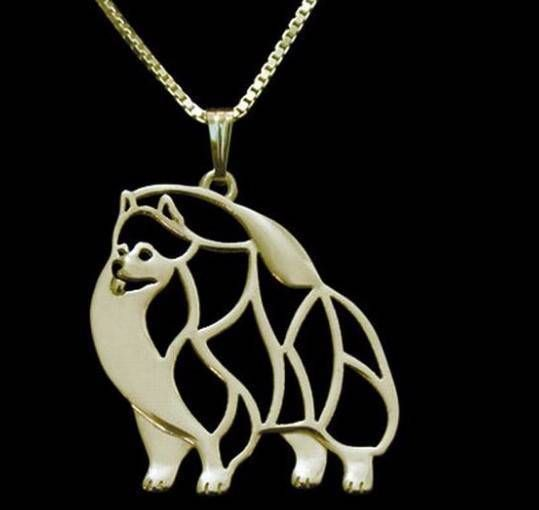 Pomeranian Gold Plated Necklaces Unisex Jewellery