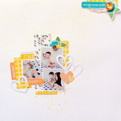 Handsome You layout by Evelyn Pratiwi Yusuf featuring Jillibean Soup Sew Sweet Sunshine Soup