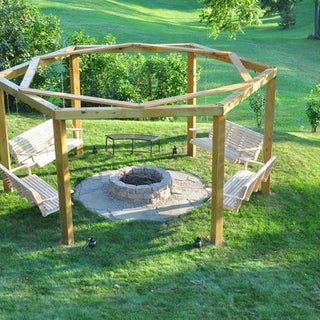 Photo of Porch-Swing Fire Pit