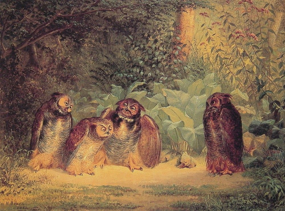 Owls, William Holbrook Beard, 1851.