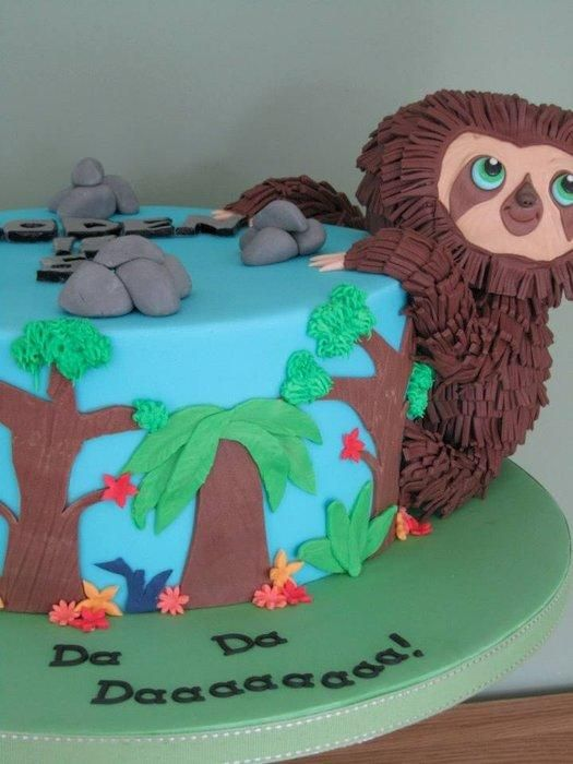 A 5th Birthday Cake For Boden Who Loves The Belt From The Croods