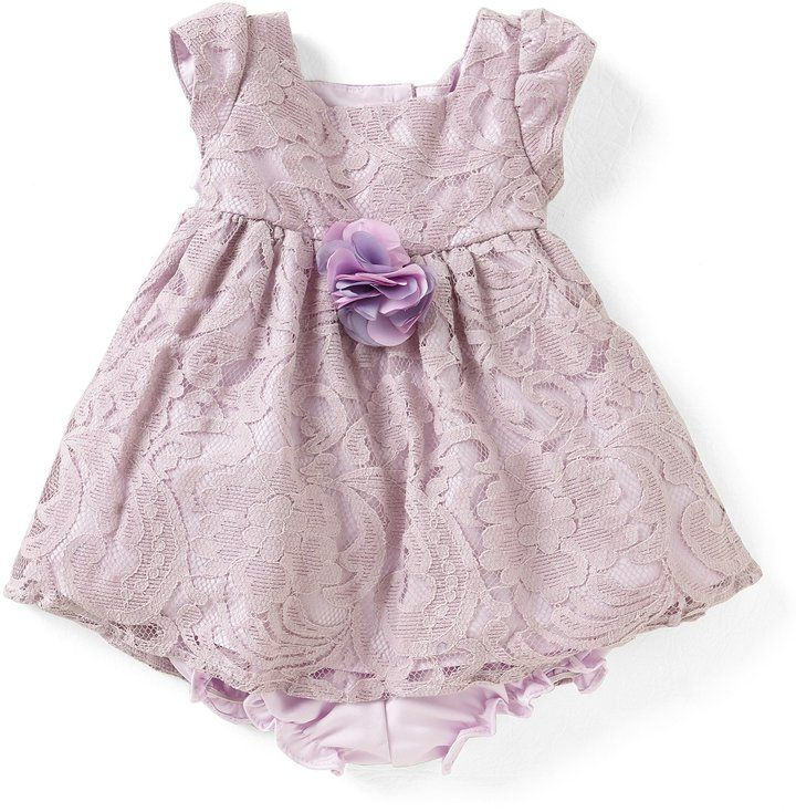 72266e72f77 Laura Ashley London Baby Girls Newborn-24 Months Lace Babydoll Dress ...