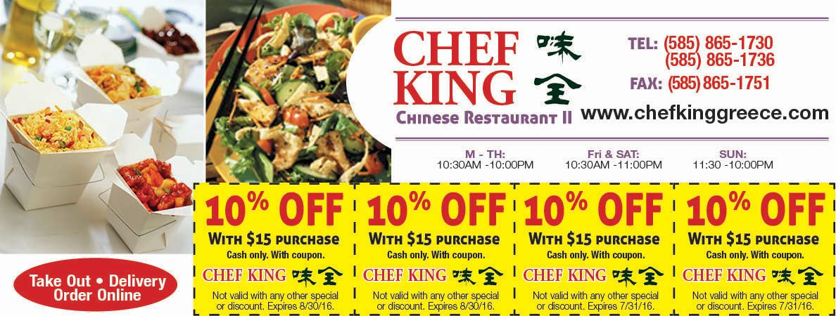 Chef King Coupon Rochester Ny Chinese Food Coupon Rochester Ny Chinese Restaurant Food Coupon Coupons
