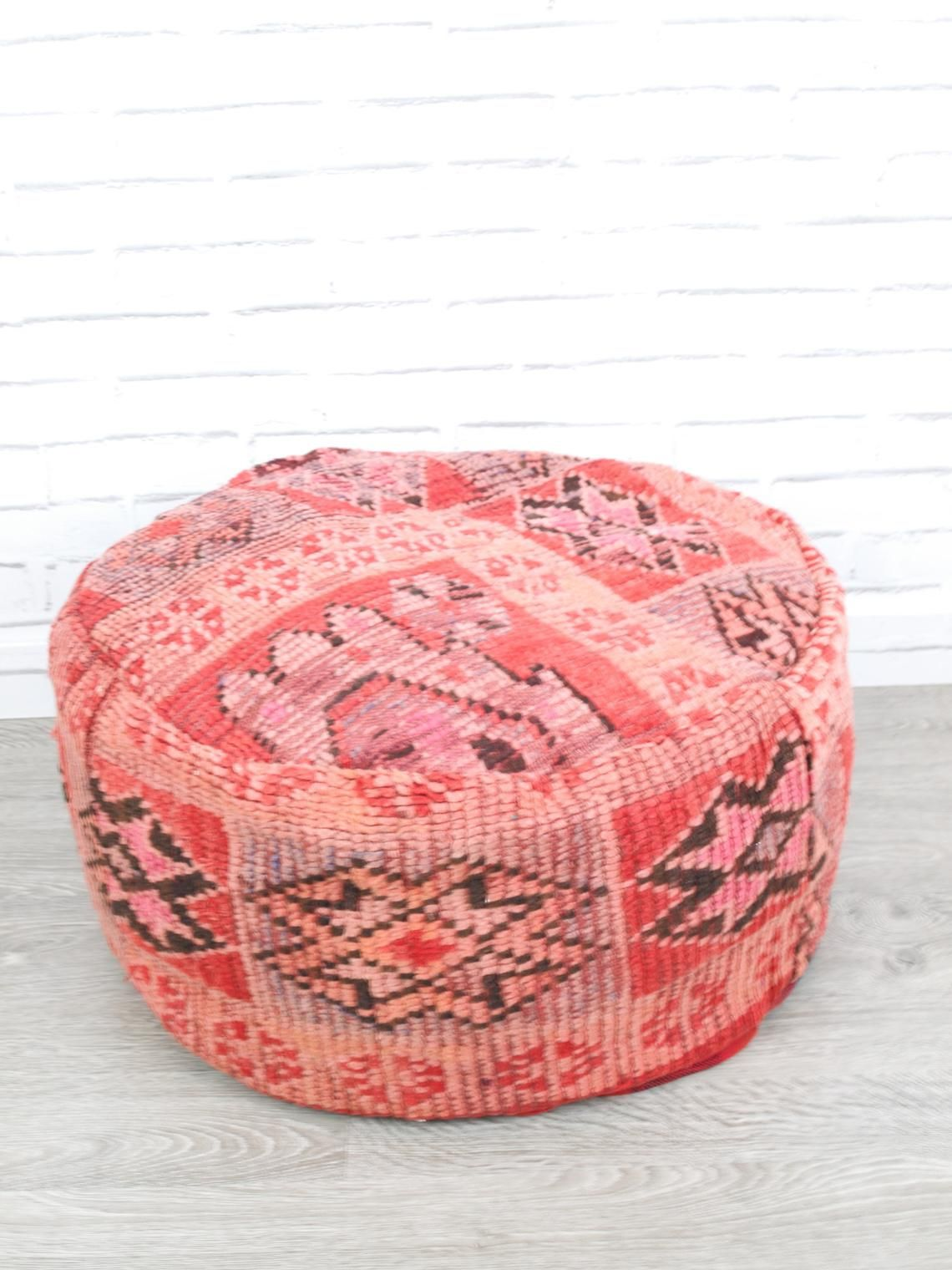 Boujaad Pouf cover Moroccan Floor Pillow Pouf from vintage