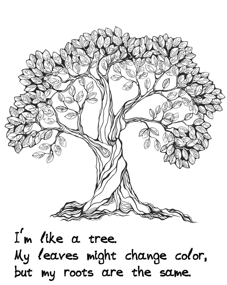 'Trees of Wisdom' coloring book - With relaxing trees to ...