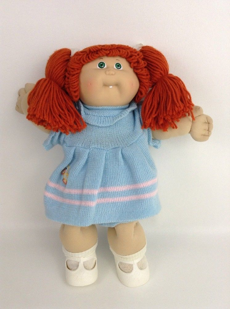 1985 Cabbage Patch Kid Girl Doll Coleco Tooth Blue Signature Orange Red Pigtails Cabbage Patch Kids Cabbage Patch Dolls Cabbage Patch