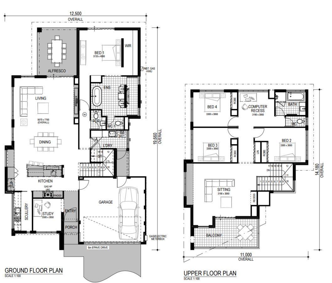 Planos de casas de dos pisos modernas decoracion Viviendas modernas de dos plantas
