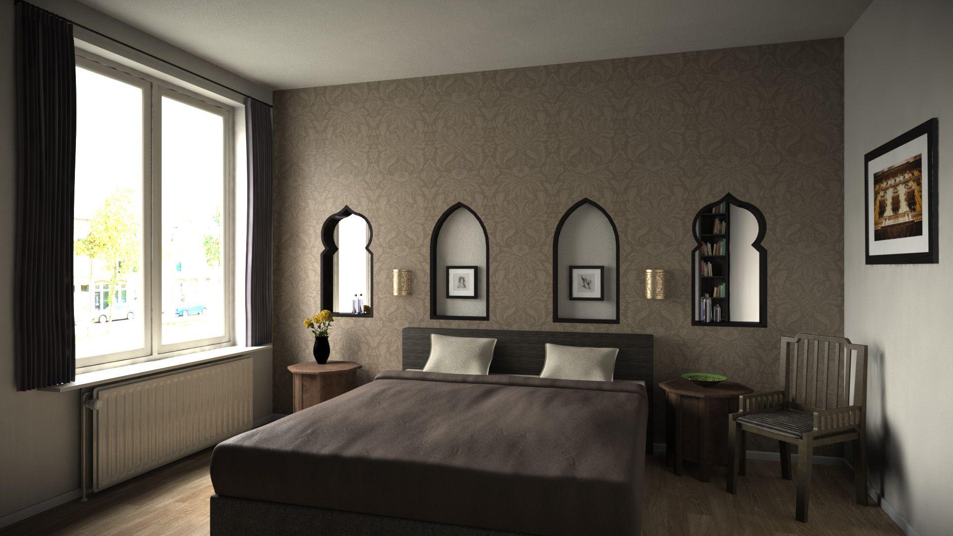 Voorzetwand slaapkamer arabische interieur pinterest slaapkamer plaatsen en decoratie - Interieur decoratie slaapkamer ...
