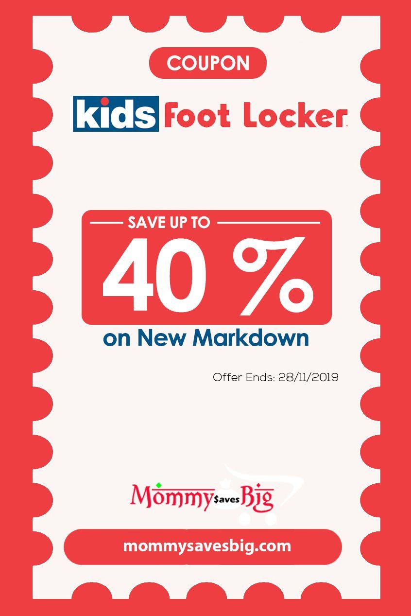 Kids Foot Locker Save Up To 40 On New Markdown Money Saving Mom Mom Coupons Printable Coupons