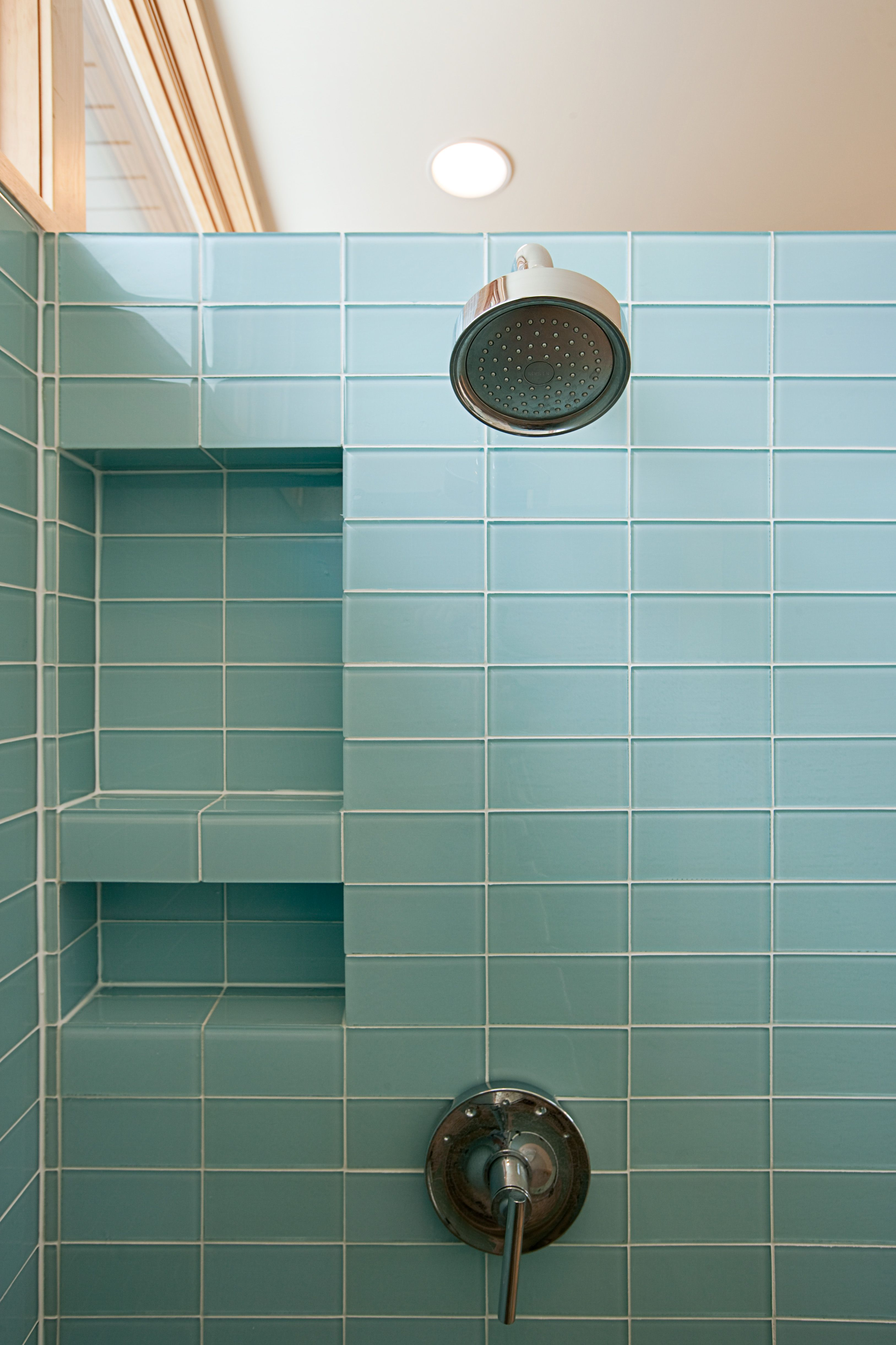 Bathroom Inspiration Contemporary Shower Niche Recessed Shelves - 3 knob shower faucettile designs for walk in showers