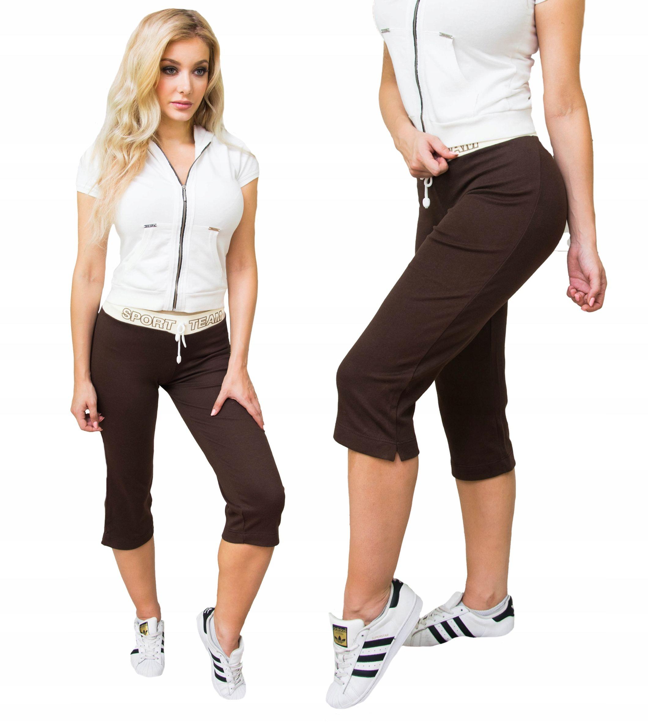 Bawelniane Spodnie Dresowe Oldschool Rybaczki S M 8455206695 Oficjalne Archiwum Allegro Fashion Capri Pants Pants
