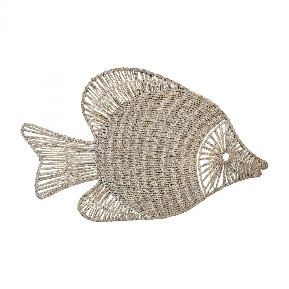 Home Decor By Sterling Industries Wicker Fish Wall Dcor 351 10216