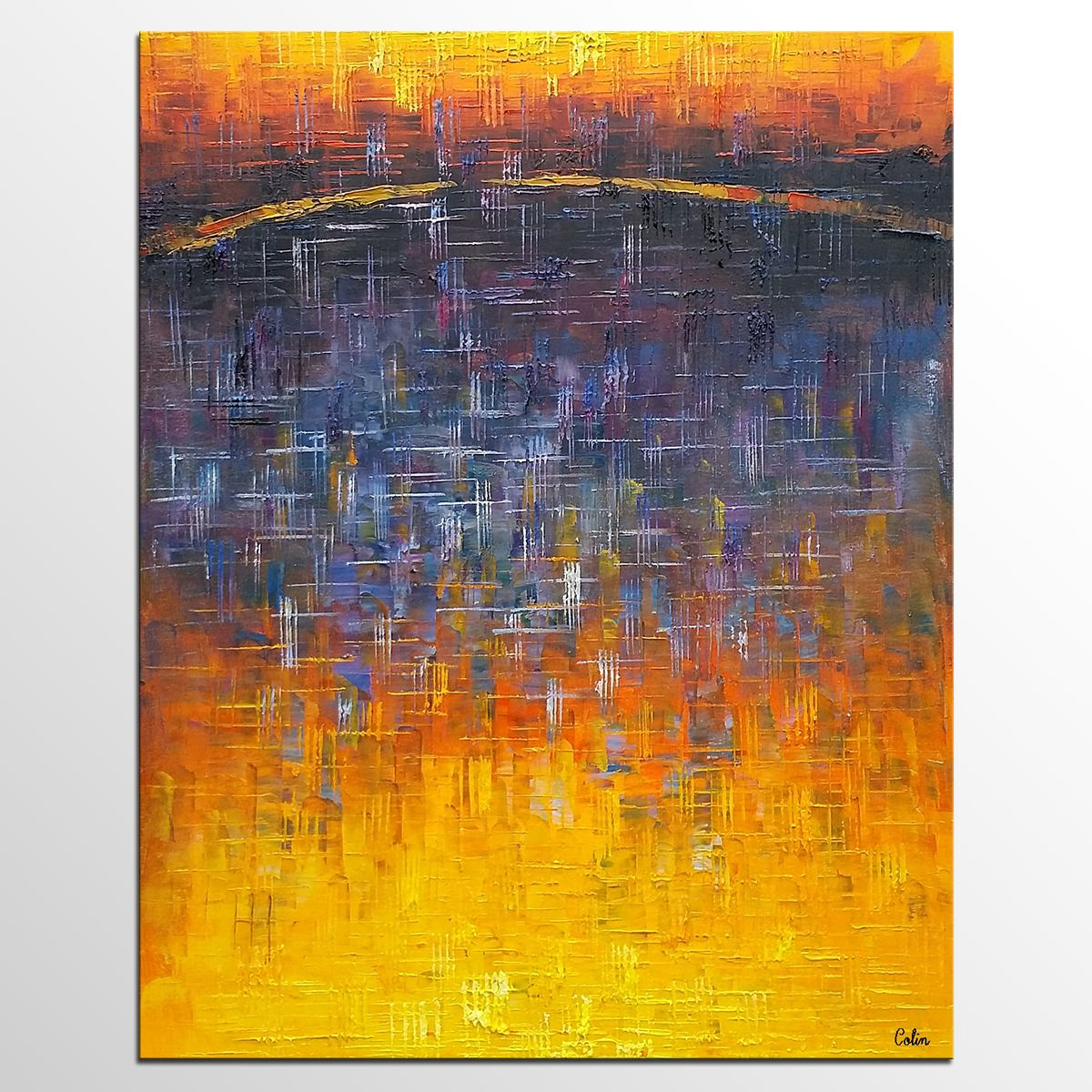 Living room wall art abstract painting modern wall art large