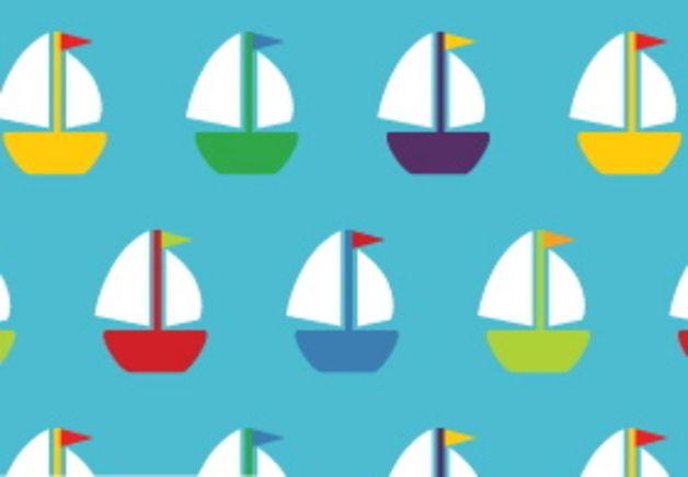 Bio-Stoffe - Bio Jersey Stoff Schiffe bunt türkis - ein Designerstück von lockstoff-jacky bei DaWanda
