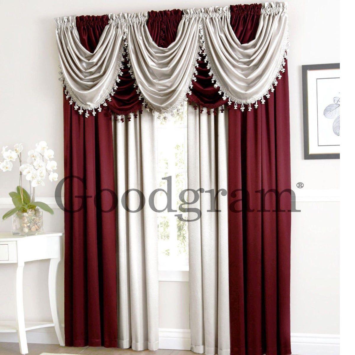 9pc Luxury Window Curtain Set New Cortinas Para La Sala Cortinas Lindas Cortinas Rojas