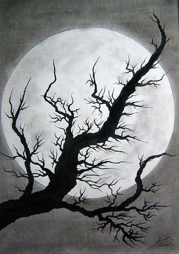 ink tree & moon