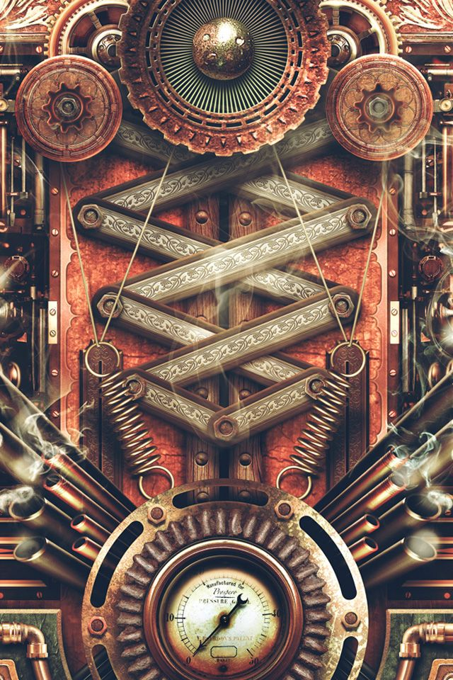 steampunk iphone wallpaper - photo #1
