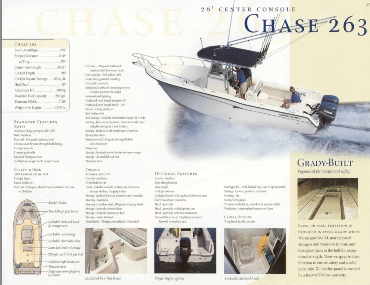 Grady White 2000 263 Chase Center Console Center Console