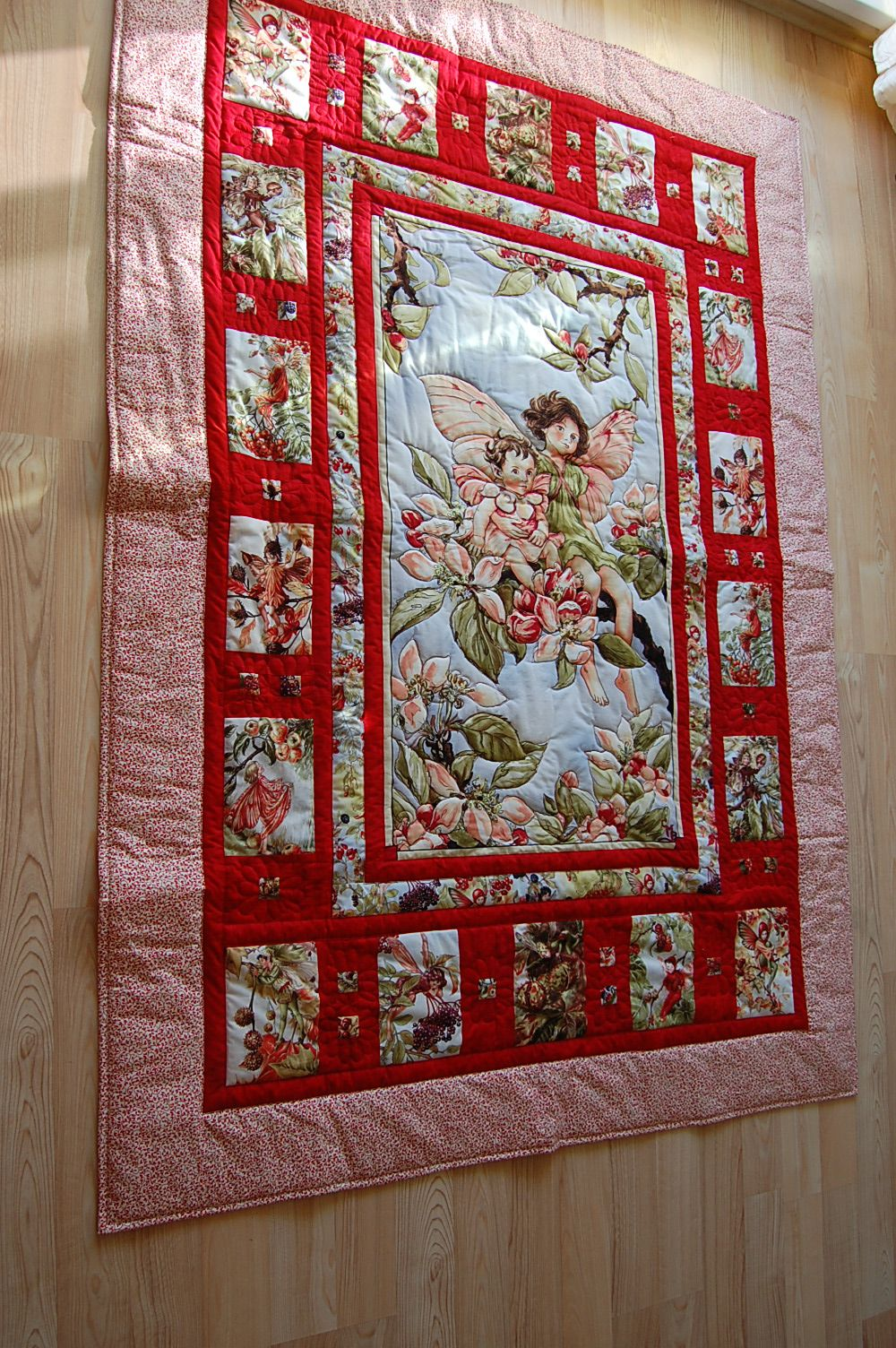 Fairy Quilt Fairies Pinterest Quilts Panel Quilts