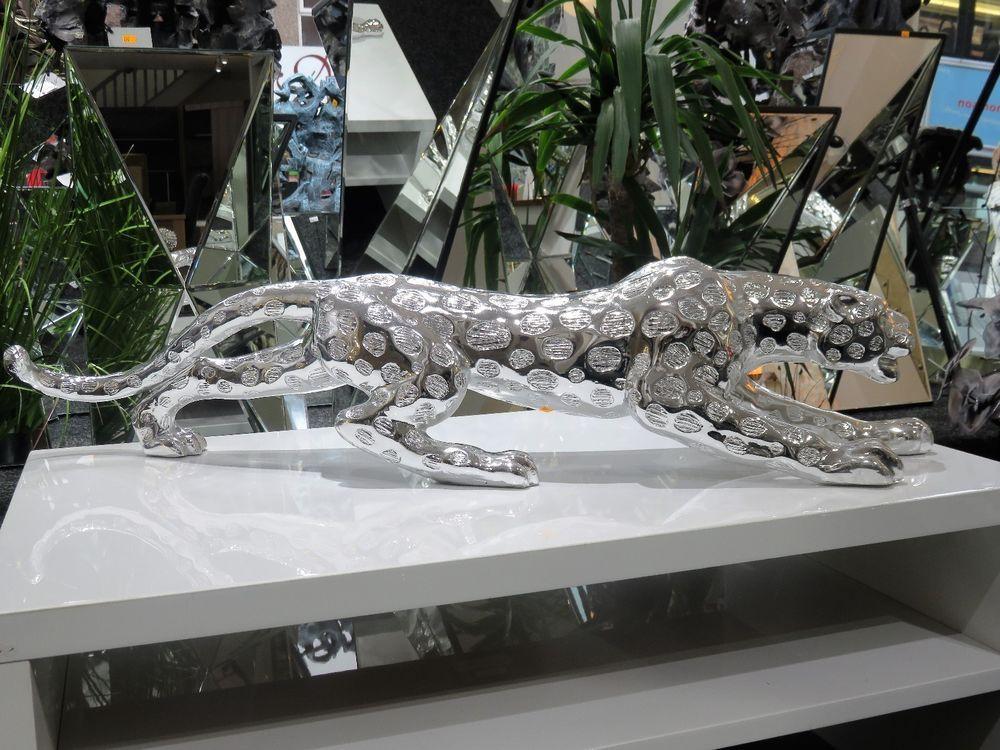 Silver Leopard Ornament