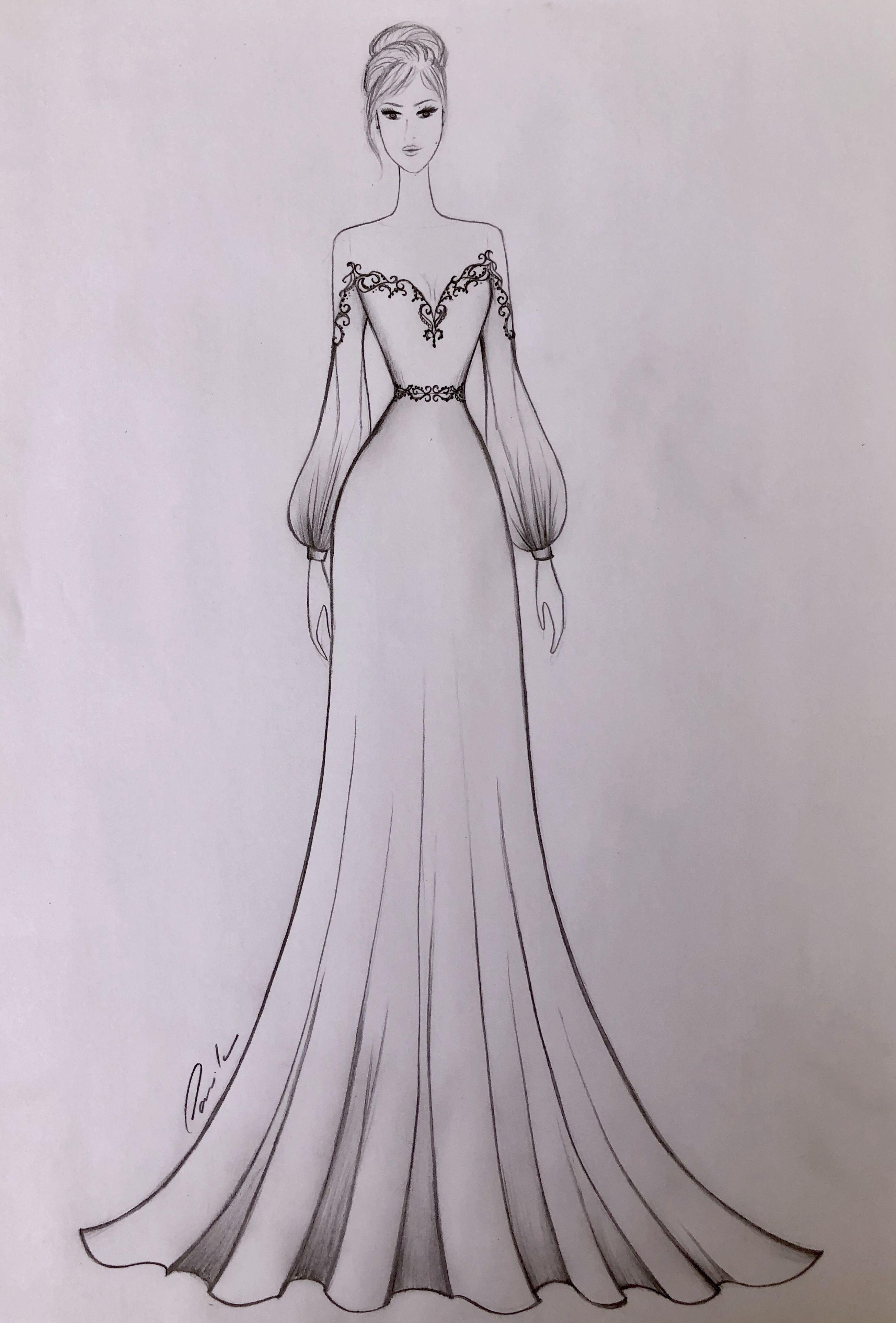 Croqui Vestido De Noiva Wedding Dress Fashion Desenhos De