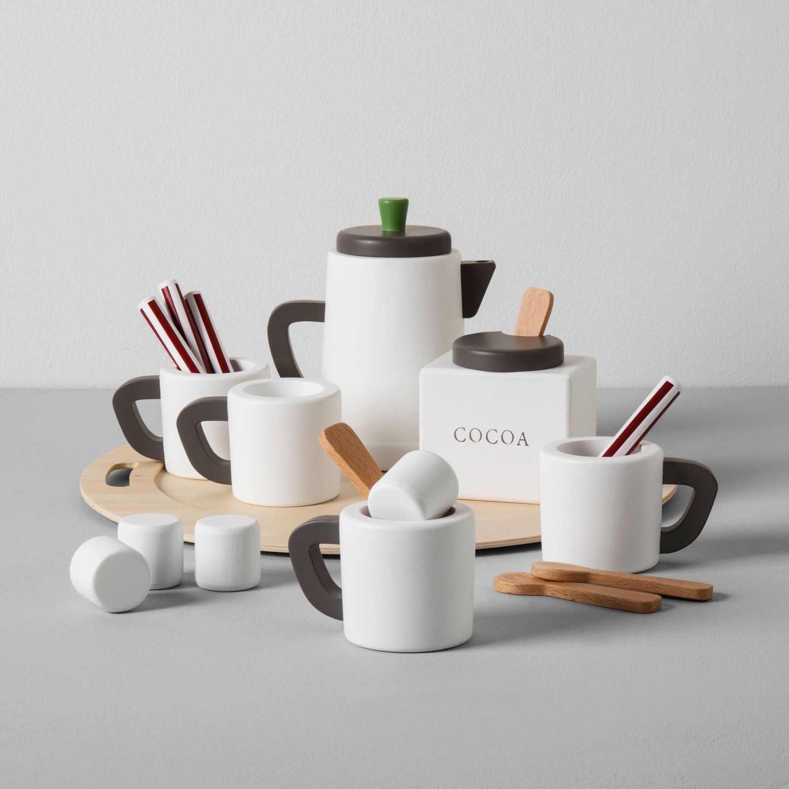 Hearth and hand wooden toy hot cocoa set magnolia target
