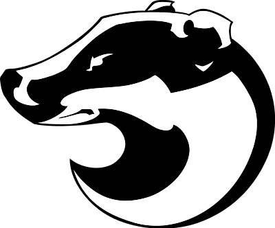 mascots badgers clip art tattoo pinterest clip art and rh pinterest com badge clipart honey badger clipart