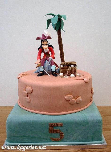 Awe Inspiring Captain Hook Cake Cake Designs For Kids Disney Cakes Personalised Birthday Cards Arneslily Jamesorg