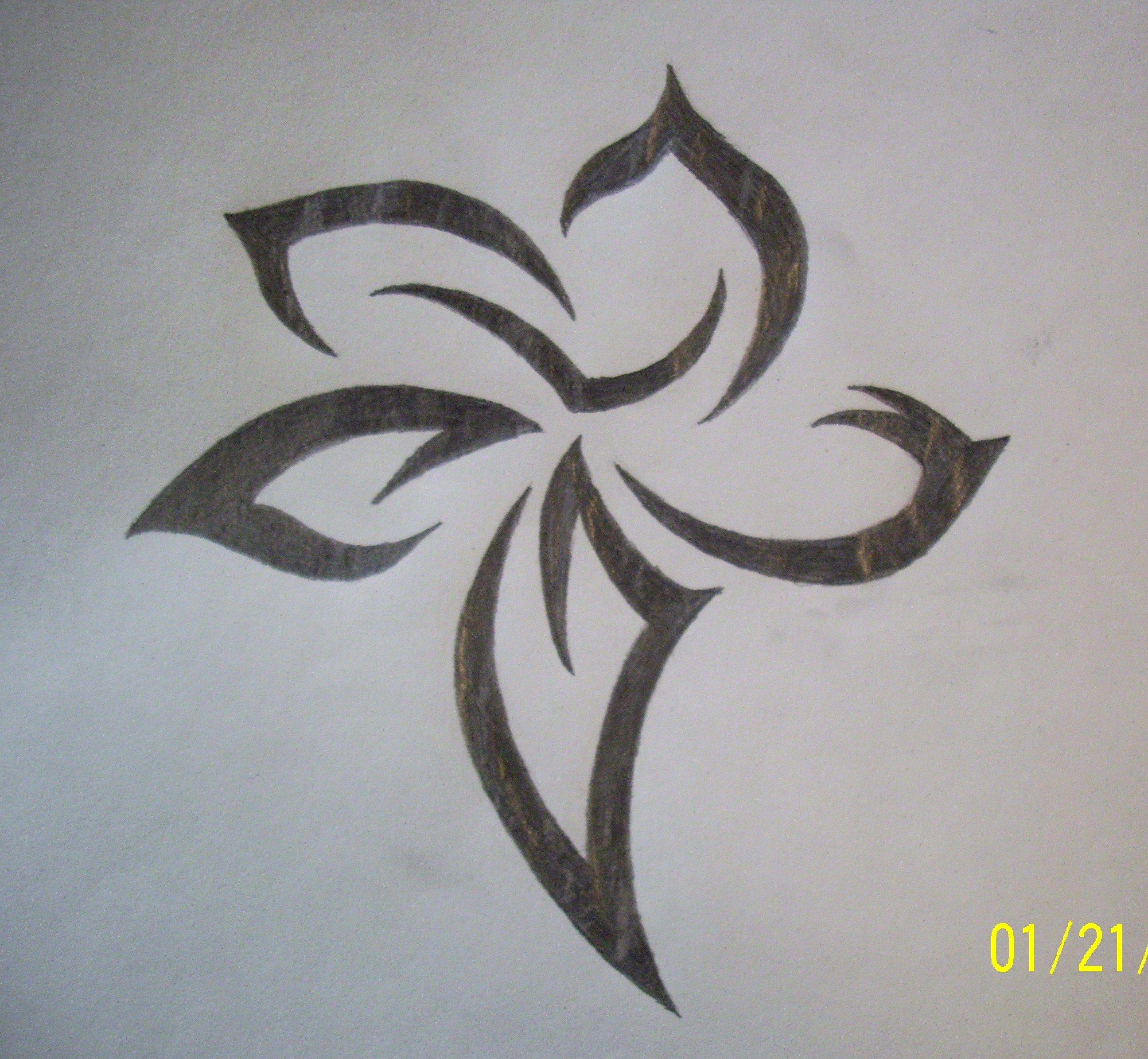 Cool Flower Drawings Drawing 2016 Tribal drawings