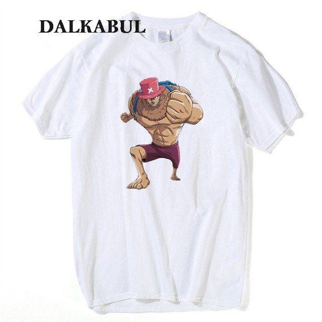 One Piece Tony Chopper T-Shirt Men Cotton Anime T Shirt