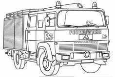 Feuerwehrauto Zum Ausmalen Ausmalbilder Für Kinder Süße Dinge