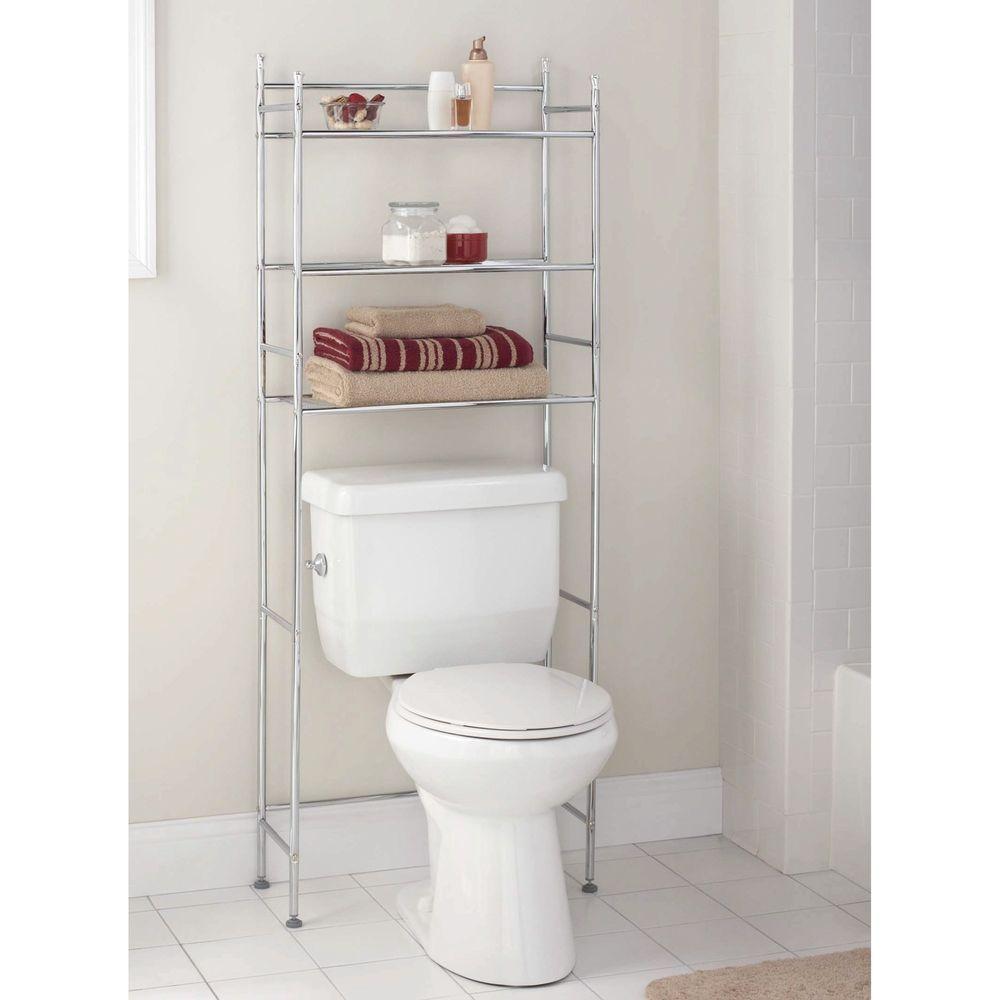 3 Shelf Bathroom Organizer Over The Toilet Space Saver Storage Rack Steel Chrome Bathroom Space Saver Space Saving Bathroom Bathroom Space