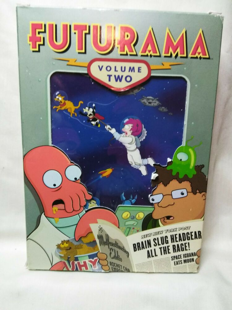 Used Dvds For Sale >> Futurama Volume 2 Dvd 2009 4 Disc Set Gently Used Fox