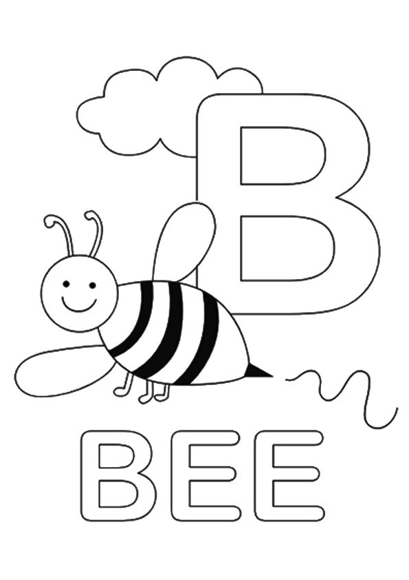 Print Coloring Image Momjunction Alphabet Coloring Pages Letter B Coloring Pages Letter A Coloring Pages