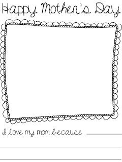 adventures in kindergarten mothers day freebie an easy writing and coloring activity for new. Black Bedroom Furniture Sets. Home Design Ideas