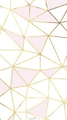 Pink Gold White Geometric Mosaic Iphone Phone Wallpaper
