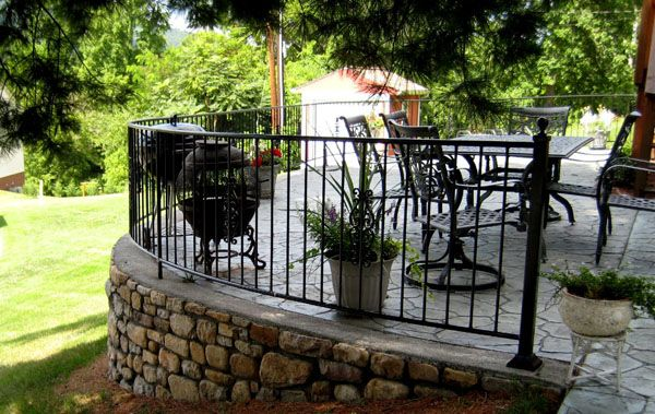 porch-railing-ideas | Sloped garden, Porch railing designs ...