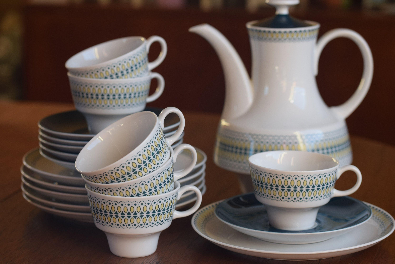 Midcentury Kaffeeservice Von Eschenbach 6 Personen19 Etsy Kaffeeservice Eschenbach Porzellan Vintage